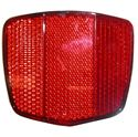 Picture of Reflector Red Oblong Bolt-on Black Rim 69mm x 60mm